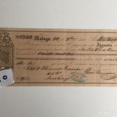 Documentos bancarios: MÁLAGA , 18.... , VIUDA DE VALLS , PAGARÉ. Lote 140912106