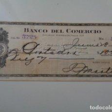 Documentos bancarios: CUBA. HABANA. BANCO DEL COMERCIO. LOTE DOS TALONES BANCARIOS, AÑOS 50. Lote 141153402