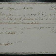 Documentos bancarios: LETRA DE CAMBIO: EXPEDIDA EN MADRID Y ABONADA EN SANTANDER (1820). Lote 142308938