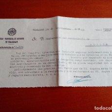 Documentos bancarios: DOCUMENTO,CAJA PROVINCIAL DE AHORROS DE VALLADOLID.AÑO 1953.. Lote 143757130
