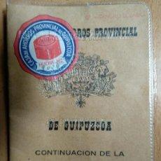 Documentos bancarios: LIBRETA DE LA CAJA DE AHORROS PROVINCIAL DE GUIPÚZCOA. 1967. Lote 143881382