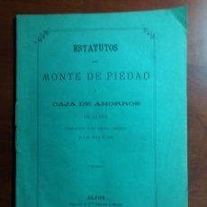 Documentos bancarios: ALCOY MONTE DE PIEDAD Y CAJA DE AHORROS 1876 ORIGINAL.. Lote 146664929