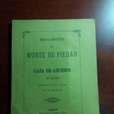 Documentos bancarios: ALCOY MONTE DE PIEDAD Y CAJADE AHORROS 1876 ORIGINAL.. Lote 146665277
