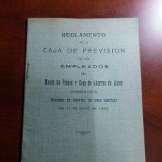 Documentos bancarios: ALCOY CAJA DE PREVISIÓN , EMPLEADOS 1923.. Lote 146665630