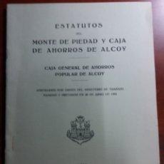 Documentos bancarios: ALCOY MONTE DE PIEDAD Y CAJADE AHORROS.REPUBLICA. Lote 146666061
