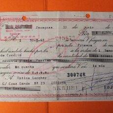 Documentos bancarios: LETRA DE CREDITO. AÑO 1968. BANCO ESPAÑOL DE CREDITO. ZARAGOZA.. Lote 147744766