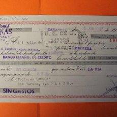 Documentos bancarios: LETRA DE CREDITO. AÑO 1967. BANCO ESPAÑOL DE CREDITO. SELLOS DE ZARAGOZA.. Lote 147745974