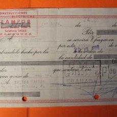 Documentos bancarios: LETRA DE CREDITO. AÑO 1966. BANCO MERCANTIL E INDUSTRIAL. SELLOS DE ZARAGOZA Y GRANADA.. Lote 147746190