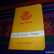 Documentos bancarios: CARTILLA DE AHORRO DE CAJA POSTAL AÑO 1978. BUEN ESTADO Y RARA. . Lote 148784418