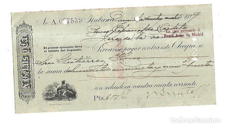 CHEQUE. N.GELATS & CA. 1929. HABANA, CUBA. VER (Coleccionismo - Documentos - Documentos Bancarios)