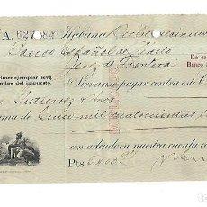 Documentos bancarios: CHEQUE. N.GELATS & CA. 1929. HABANA, CUBA. VER. Lote 149305738