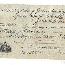 Documentos bancarios: CHEQUE. N.GELATS & CA. 1929. HABANA, CUBA. VER. Lote 149305806