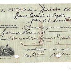 Documentos bancarios: CHEQUE. N.GELATS & CA. 1929. HABANA, CUBA. VER. Lote 149305838