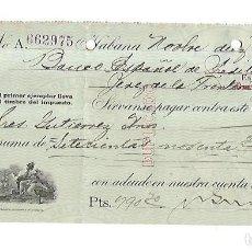 Documentos bancarios: CHEQUE. N.GELATS & CA. 1930. HABANA, CUBA. VER. Lote 149306066
