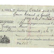 Documentos bancarios: CHEQUE. N.GELATS & CA. 1930. HABANA, CUBA. VER. Lote 149306354