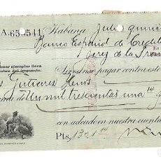 Documentos bancarios: CHEQUE. N.GELATS & CA. 1930. HABANA, CUBA. VER. Lote 149306482