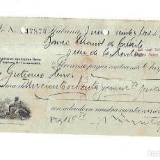 Documentos bancarios: CHEQUE. N.GELATS & CA. 1930. HABANA, CUBA. VER. Lote 149306546