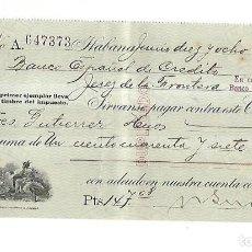 Documentos bancarios: CHEQUE. N.GELATS & CA. 1930. HABANA, CUBA. VER. Lote 149306726