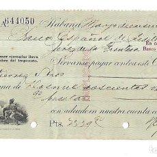 Documentos bancarios: CHEQUE. N.GELATS & CA. 1930. HABANA, CUBA. VER. Lote 149306754