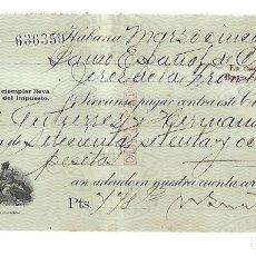Documentos bancarios: CHEQUE. N.GELATS & CA. 1930. HABANA, CUBA. VER. Lote 149306842