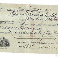 Documentos bancarios: CHEQUE. N.GELATS & CA. 1930. HABANA, CUBA. VER. Lote 149306862