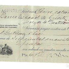 Documentos bancarios: CHEQUE. N.GELATS & CA. 1930. HABANA, CUBA. VER. Lote 149306882