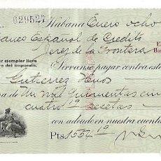 Documentos bancarios: CHEQUE. N.GELATS & CA. 1930. HABANA, CUBA. VER. Lote 149306914