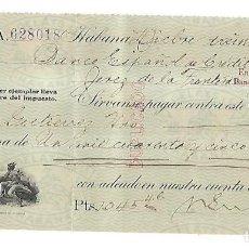 Documentos bancarios: CHEQUE. N.GELATS & CA. 1929. HABANA, CUBA. VER. Lote 149306998