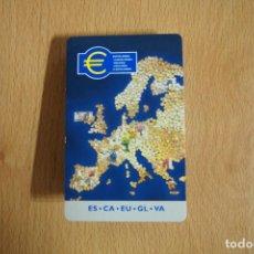 Documentos bancarios: TRIPTICO BANCO CENTRAL EUROPEO, NUESTRA MONEDA. DETALLE MONEDAS Y BILLETES ZONA EURO. VER FOTOGRAFIA. Lote 149507366