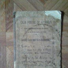 Documentos bancarios: CAJA POSTAL DE AHORROS 1936. Lote 149511074