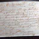 Documentos bancarios: LETRA CAMBIO MANUSCRITA.OVIEDO. 1703. Lote 149865780