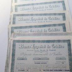 Documentos bancarios: LOTE DE 18 DOCUMENTOS DEPOSITO T. DE VALORES B.ESPAÑO DE C. MALAGA 1959-60-64-66-68-69-71-72-73-75. Lote 150017386