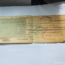Documentos bancarios: LETRA CAMBIO BANCO ZARAGOZANO 1934 ZARAGOZA. Lote 150127422