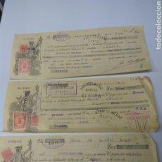 Documentos bancarios: ALMERÍA LETRAS DE CAMBIO AÑO 1935 LOTE DE 3 UNID. Lote 151125610