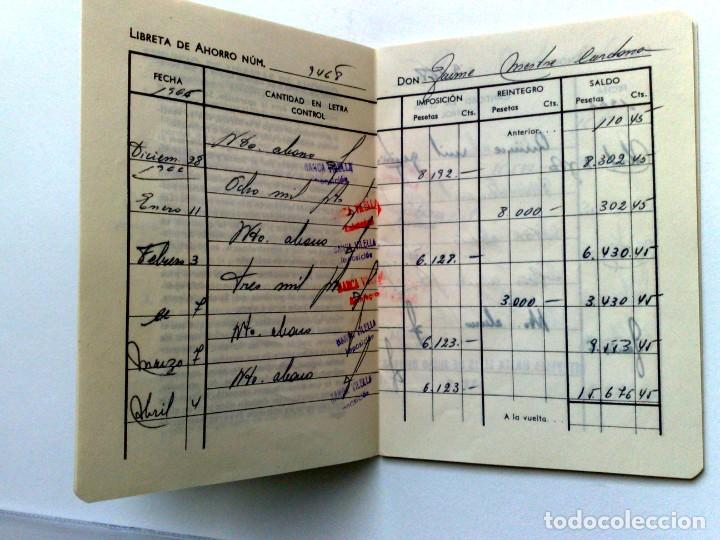 Documentos bancarios: LIBRETA DE AHORRO,BANCA DE VILELLA (COMPL.) EXPEDIDO 1966 EN REUS - Foto 3 - 151805498