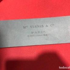 Documentos bancarios: TALÓN PAGARÉS MERS VERNES CÍA PARIS 1874 LOTE 25 XIX SIGLO. Lote 151898914