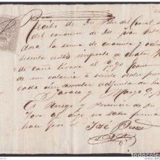 Documentos bancarios: E4213 SPAIN CUBA BANK CHECK SUGAR MILLS ECONOMIA 1874 + REVENUE RECIBOS.. Lote 152381282