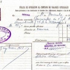 Documentos bancarios: DOCUMENTOS DE BANCO ARNUS DE GERONA 1930-1935 CLASE 10 Y 11. Lote 152606354