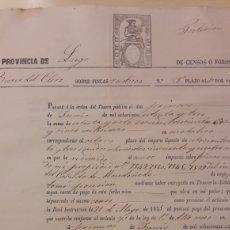 Documentos bancarios: 1885 CENSOS FOROS LUGO PAGARÉ ORDEN TESORO. Lote 152919318