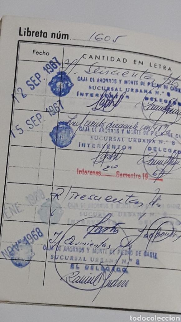 Documentos bancarios: LIBRETA CAJA DE AHORROS Y MONTE PIEDAD DE CADIZ - Foto 2 - 153257102