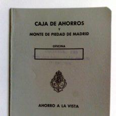 Documentos bancarios: LIBRETA CAJA DE AHORROS Y MONTE DE PIEDAD DE MADRID (COMPL.32 PAG) EXP.1977 EL ESCORIAL(DESCRIPCIÓN). Lote 153310610