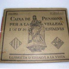 Documentos bancarios: CAIXA DE PENSIONS PER A LA VELLESA I D'ESTALVIS - FIGUERES - 1937. Lote 154313282