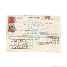Documentos bancarios: CHEQUE BANCO ESPAÑOL DE CREDITO. SELLO REPUBLICANO.Y SELLO POR LA PATRIA DE ASTURIAS. LUARCA. Lote 154632378