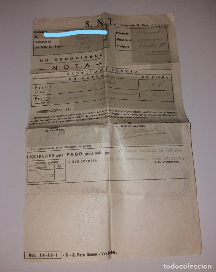 PAPEL ANTIGUO. BANCO ESPAÑOL DE CRÉDITO, LIQUIDACIÓN PARA PAGO (1949) (Coleccionismo - Documentos - Documentos Bancarios)