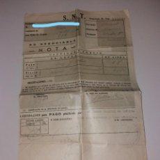 Documentos bancarios: PAPEL ANTIGUO. BANCO ESPAÑOL DE CRÉDITO, LIQUIDACIÓN PARA PAGO (1949). Lote 154868814