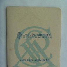 Documentos bancarios: LIBRETA O CARTILLA DE LA CAJA DE AHORROS PROVINCIAL DE SEVILLA. 1958. Lote 155698910