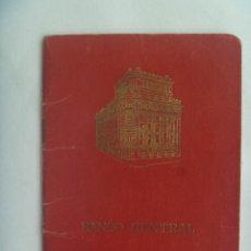 Documentos bancarios: LIBRETA O CARTILLA DEL BANCO CENTRAL, CAJA DE AHORRO. DE SEVILLA, 1960. Lote 155701054