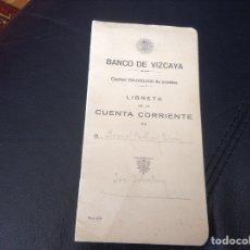 Documentos bancarios: ANTIGUA LIBRETA BANCO DE VIZCAYA. Lote 156219070