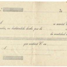 Documentos bancarios: LETRA DE CAMBIO SIN RELLENAR / CLASE 12ª - 20 CÉNTIMOS. Lote 156305042