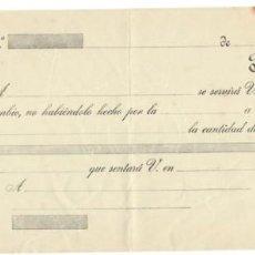 Documentos bancarios: LETRA DE CAMBIO SIN RELLENAR / CLASE 12ª - 20 CÉNTIMOS. Lote 156306174